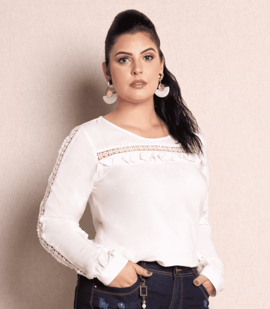Blusa Plus Size Off White