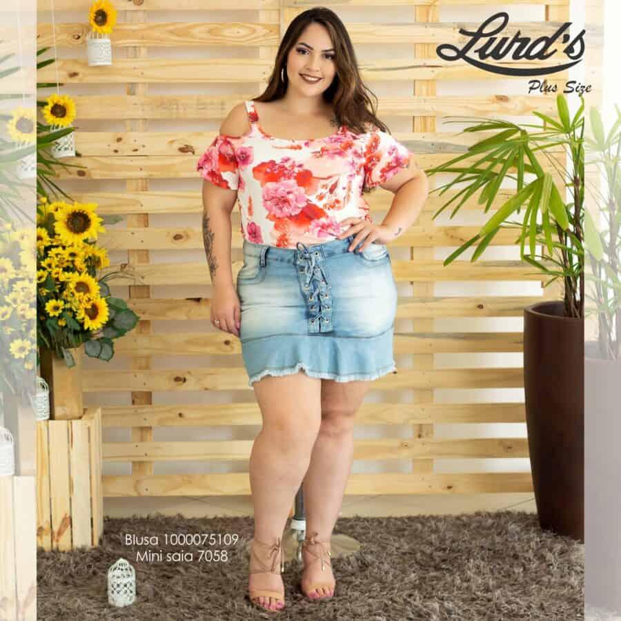 Mini Saia Jeans 7058