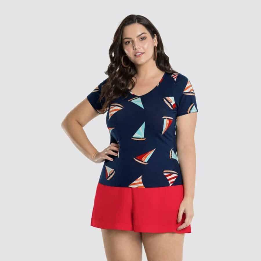 Blusa Plus Size 47101